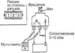"""А вот схемка для проверки датчика сокрости.  А по моему нужно  """"- """" - и от частоты буит тебе скорость. и когда подаешь..."""