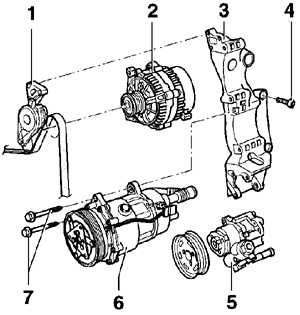 Не допускайте контакта хладагента с кожей.Кронштейны компрессора кондиционера можно снимать и устанавливать...