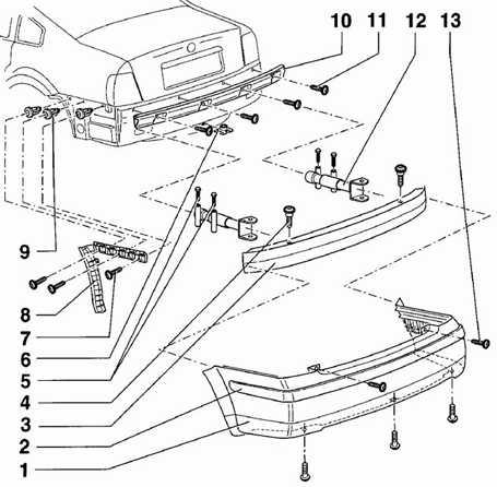 В 5 пассат регулировка буфера багажника