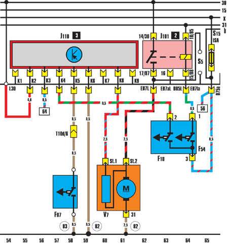 Вентилятор радиатора (работа