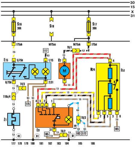 Е9 – выключатель вентилятора