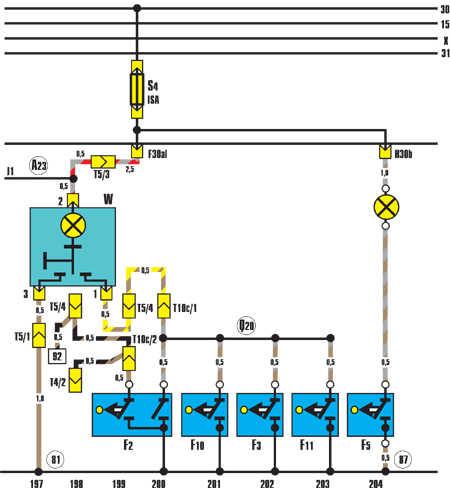 F2 – дверной выключатель