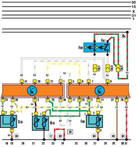 Устройство впрыска KE III-Jetronic (двигатель мощностью 100 КВт) Audi 100.
