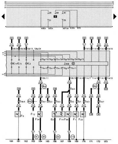 J268 – блок управления системы
