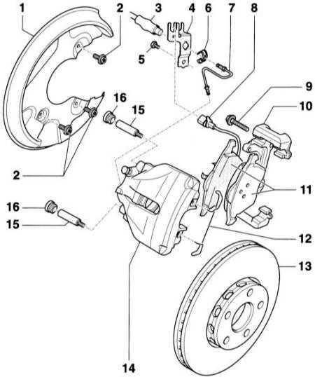 При замене тормозных колодок