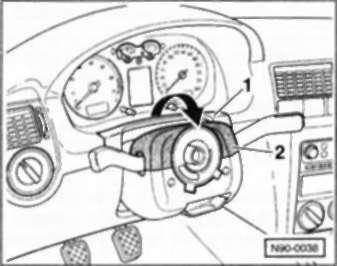 снятие рулевого колеса на фольксваген поло