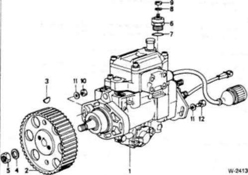 Система впрыска топлива - дизельные двигатели БМВ 5 Е34.
