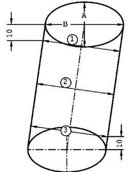 Схема измерения диаметра ПРИМЕЧАНИЕ Запрещается измерять диаметры цилиндров, когда блок цилиндров закреплен на...