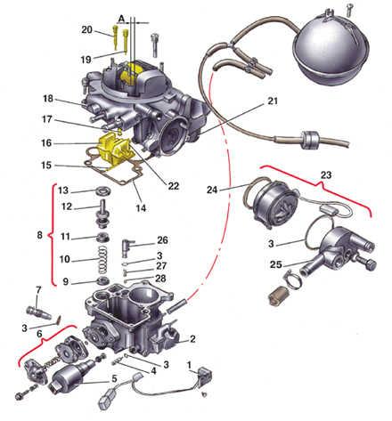 карбюратора фольксваген схема