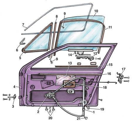 как поставить стекло передней двери фольксваген