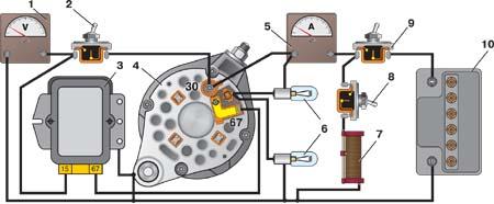 схема проверки реле регулятора генератора - Всемирная схемотехника.