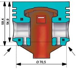 Схема удаления металла с поршня двигателя 21011 для подгонки его массы.