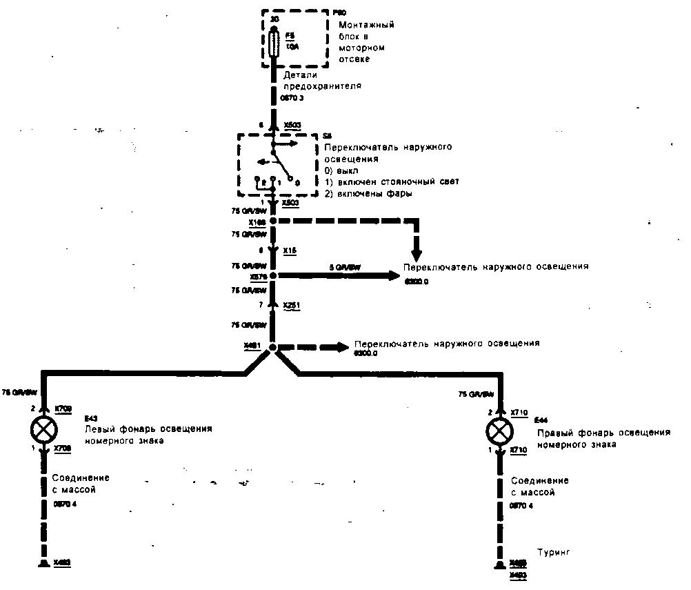 Схемы электрооборудования БМВ 5 Е34.
