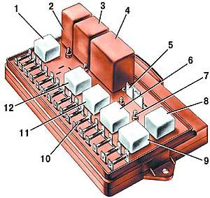 ваз 21099 электросхема блока предохранителей