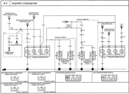 электрическая схема киа рио