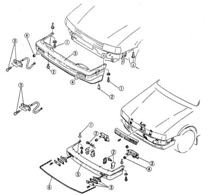 Снятие и установка переднего