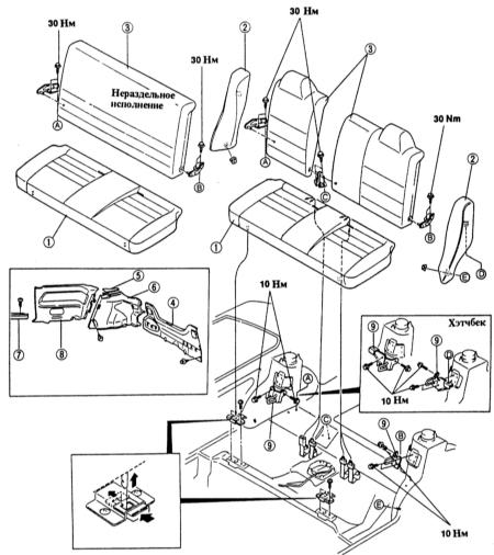схема проводки сидений mazda 323