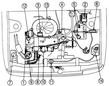 Двигательный отсек Mazda 323
