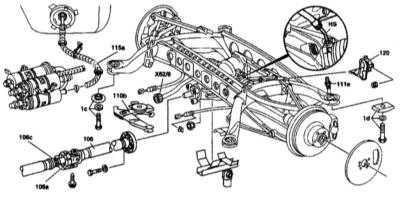 мерседес w140 замена задних амортизаторов