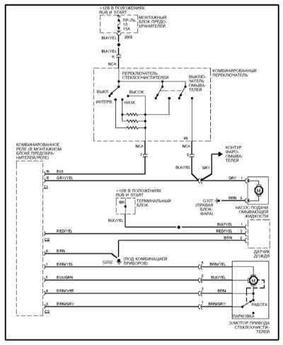 Ремонт и обслуживание/ Mercedes-Benz W140 1991-1999 14.9.  Принципиальные схемы электрооборудования.