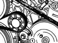 как подтянуть ремень в 102 двигателе мерседес