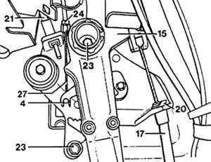 Педаль стояночного тормоза Mercedes-Benz W124.