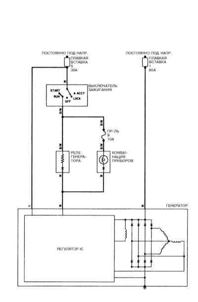 Схемы электрических соединений Мицубиси Галант.