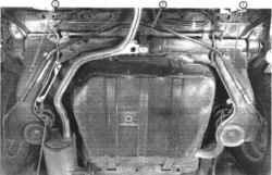 1. Продольный рычаг.  1.2б Элементы задней подвески (Precis).  2. Стабилизатор поперечной устойчивости.