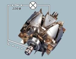 Наличие задиров или царапин на внутренней поверхности статора свидетельствует о задевании якоря о статор...