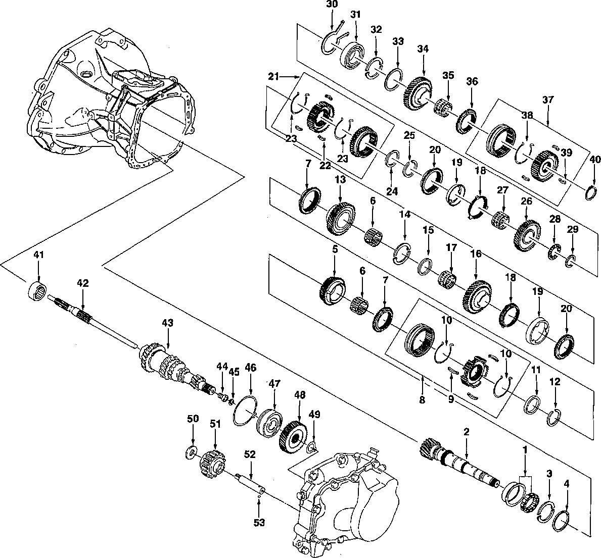Схема кпп шевроле авео
