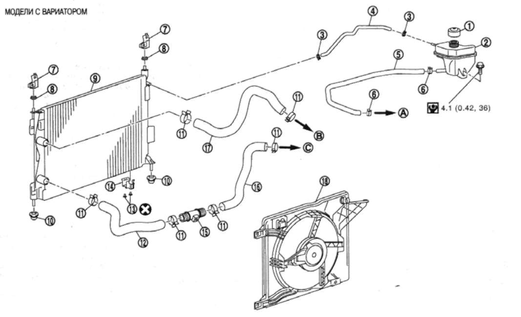 Система охлаждения, радиатор двигателя, патрубки, Гранд.