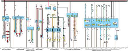 Электросхема 4 Opel Kadett E.