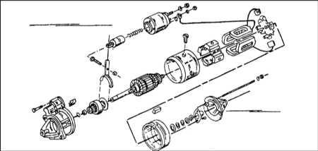 Монтажная схема стартера фирмы Bosch.  1. Для проверки стартера при полном напряжении необходимо соединить между...
