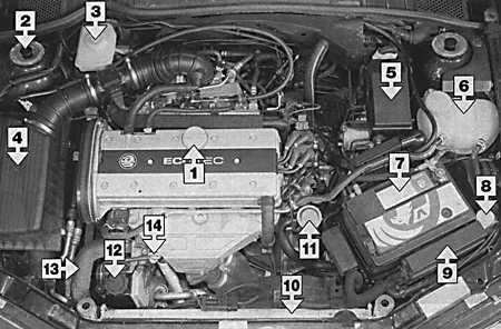 двигателей Opel Vectra B