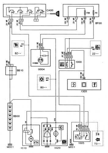 Ремонт и обслуживание/ Citroen Xantia 1993-1998 16.2 Системы запуска и заряда (бензиновые модели с АТ) .