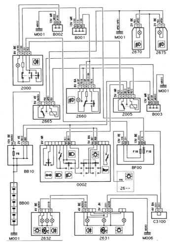 Ремонт и обслуживание/ Citroen Xantia 1993-1998 16.15 Противотуманные фары и фонари.