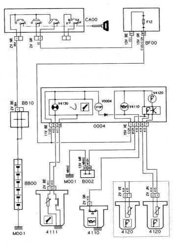 Ремонт и обслуживание/ Citroen Xantia 1993-1998 16.30 Система контроля за температурой, уровнем и давлением...