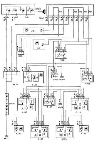 Ремонт и обслуживание/ Citroen Xantia 1993-1998 16.39 Электропривод стеклоподъемников задних дверей.