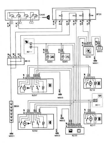 Схемы электрооборудования Ситроен Ксантиа.