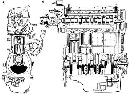разрез разрез двигателя peugeot 107