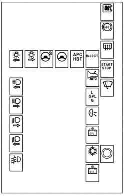 ...блока защиты и коммутацииОбозначение предохранителей блока защиты и коммутации показано на рис. 5.Цепи...