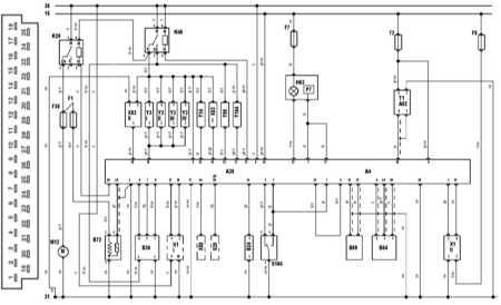 управления и разъем блока управления Bosch Jetronic 2.4 на моделях по 91 г Saab 9000.