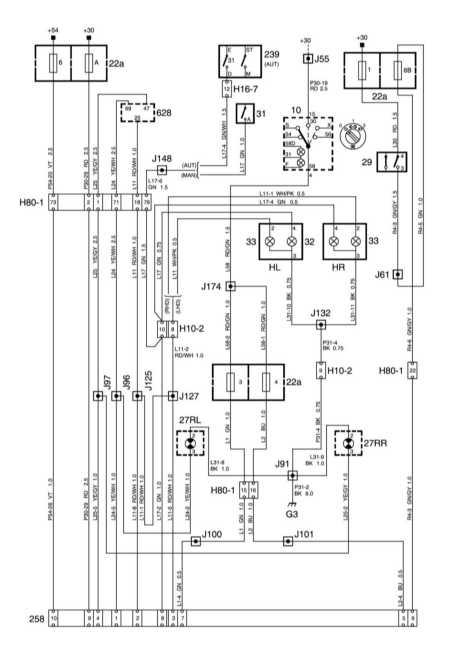 Схемы электрооборудования Сааб 95.