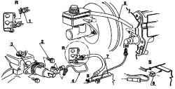 ...4 - трубопровод; 5 - шланг; 6 - скоба; 7 - лонжерон В автомобили Шкода типового ряда Октавия с ручным управлением...