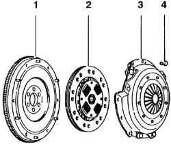 Диски сцепления и нажимные диски с поврежденным или же ослабленным заклепочным соединением подлежат замене.