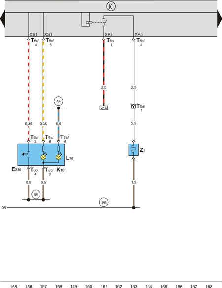 2109 схема аварийной сигнализации