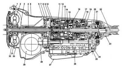 121. 61 Субару Форестер Subaru Forester устройство автоматической КПП 3 4-ступенчатая автоматическая трансмиссия (ат)...