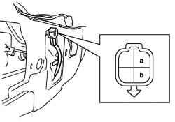 Схема проверки концевого выключателя двери задка (для моделей с кузовом универсал).  Проверьте наличие цепи между...