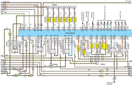 Эл.схема отопителя и кондиционера на Toyota Camry.