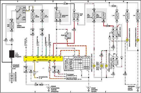 схема электрооборудования toyota vista.